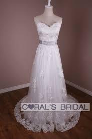 backyard wedding dresses wd10320 f informal lace and tulle backyard wedding dress coral s