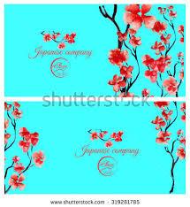 japanese wedding backdrop realistic cherry blossom japanese pink cherry stock illustration