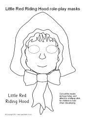 red riding hood role play masks sparklebox