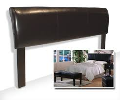 King Size Leather Headboard Espresso Brown Bicast King Size Headboard King Size