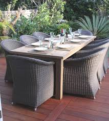 15 best ideas of outdoor wicker dining tables