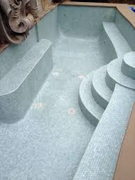 Waterfall Glass Tile Glass Tile Swimming Pools