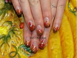 acrylic thanksgiving nails with glitter fade nails by jodi s