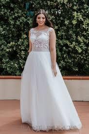 wedding dress illusion neckline wedding dress w7331 grace pleats