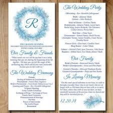 winter wedding programs best wedding ceremony program templates products on wanelo