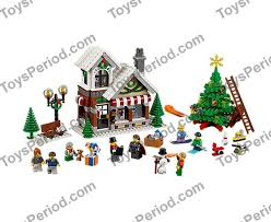 lego 10249 winter shop set parts inventory and