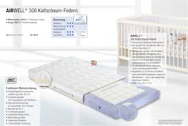 matratze 70 x 140 paidi kaltschaum federn kinderbett matratze airwell 300 1525400