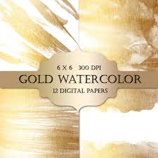 White And Gold Wedding Invitation Cards Gold Watercolor Digital Papers Gold Glitter Watercolor