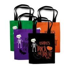 personalized halloween treat bag trick or treat bag halloween