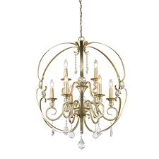 Hampton Bay 9 Light Chandelier Golden Lighting 1323 9 Wg Ella 9 Light Chandelier In White Gold