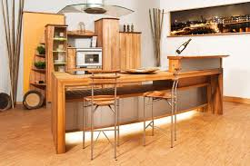 Rustic Modern Kitchen by Rustic Modern Open Kitchen Design With Wooden Cabinet And Kitchen