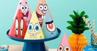 party hats spongebob printable party hats nickelodeon parents