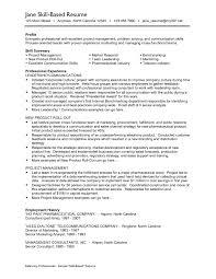 skill resume samples i really skill based resumes fistful of