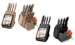 bloc de couteaux de cuisine bloc couteaux de cuisine 8 ou 14 pièces backen cut groupon