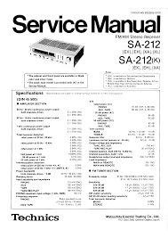 technics sa212 k service manual immediate download