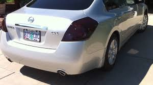 2010 nissan altima coupe jdm nissan altima tail light tint work in progress part 6 youtube