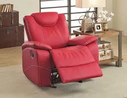 contemporary reclining sofa red elegant quality contemporary