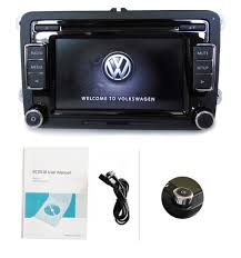 vw car audio radio rcd510 usb aux cd mp3 ipod w code golf touran