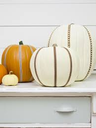 Embellish Home Decor by Easily Embellish Pumpkins With Ribbon Hgtv