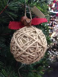 diy jute burlap jingle bell rustic ornament idea