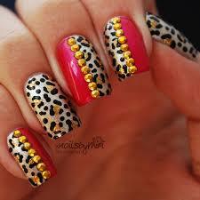 gold pink leopard nail art by xnailsbymiri nailpolis museum of