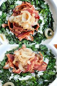thanksgiving bacon creamy collard greens with caramelized onions u0026 bacon this