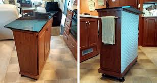 How To Build A Movable Kitchen Island Danny D Rv Tips Diy Addition Rv Kitchen Storage And Countertop Space