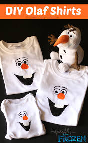 disney frozen craft diy olaf shirt