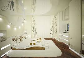 Futuristic Bedroom Design By Art Deco White Color Home Design - Futuristic bedroom design