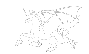coloring pages pegasus unicorn
