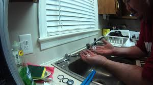 Leaking Single Handle Kitchen Faucet Replacing The Washers To A Delta Peerless Single Lever Kitchen