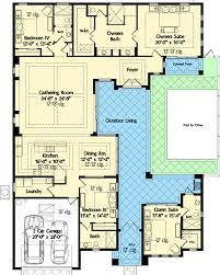 florida house plans with courtyard pool mediterranean house plans with courtyard in middle style home one