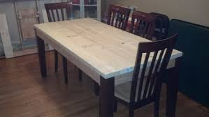 diy round farmhouse table ana white modern farm table almost done just need to stain the