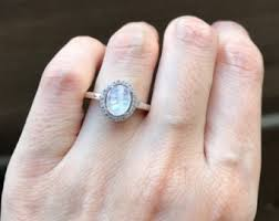 Moonstone Wedding Ring by Moonstone Wedding Etsy