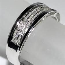 men diamond wedding bands diamond wedding band 10k white gold ring 23ct 8mm wide comfort