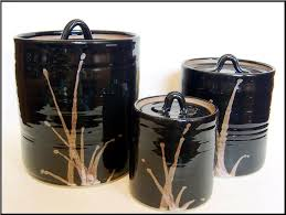 black kitchen canister sets ceramic kitchen canisters sets all home ideas and decor