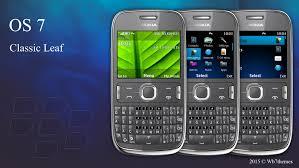 themes mobile black berry bb 10 style classic leaf classic rhythm theme asha 302 210 205 320x240