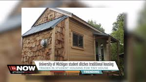 cost to build a house in michigan see the tiny house a college student decided to build after he was