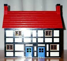 Lego House Floor Plan Half Timbered Shops Lego Building Instructions Lions Gate Models