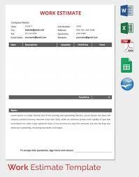 professional estimate template 11 job estimate templates and work