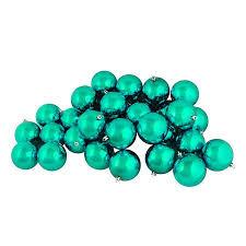 60ct shiny seafoam green shatterproof ornaments 2 5
