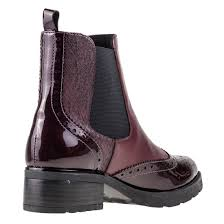 buy boots smart brown leather boots caprice germany caprice bordeaux comb womens chelsea boots in burgundy