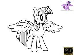 lovely twilight sparkle coloring page 74 in coloring pages online