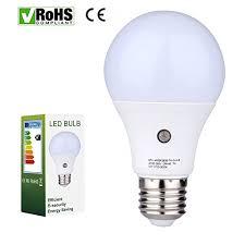 outdoor garage light bulbs e27 led sensor light bulbs built in photosensor detection auto