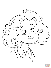 orphan annie coloring page free printable coloring pages