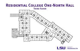 college floor plans residential college one north hall lsu residential life