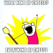 Cheese Meme - what kind of cheese everykind of cheese meme all the things