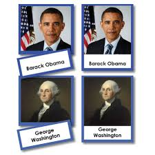 presidents of the united states three part cards with photographs