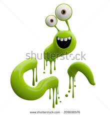 happy green color 3d fantasy paint object color splash stock illustration 209698576