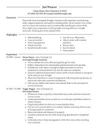Resume For A Grocery Store Peachy Design Stocker Resume 4 Unforgettable Part Time Overnight